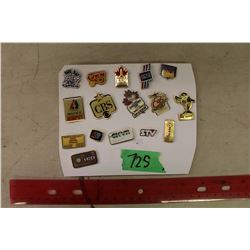 Lot of 16 different Radio & Television Metal Lapel Pins