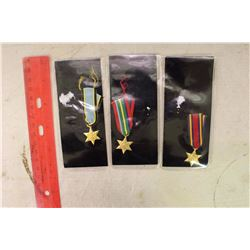 The Pacific Star, The Burma Star & an Air Crew Europe(Miniature Medals)