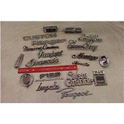 Lot of Metal Automobile Emblems / Logos