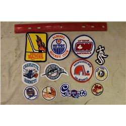 Lot of 12 Vintage Crests – NHL, WHA, MLB, NBA