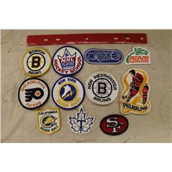 Lot of 11 Vintage Crests – NHL, WHA, MLB, NBA