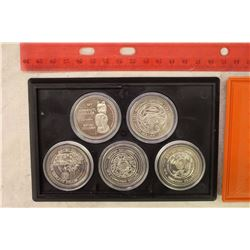 Set of 5 Trade Dollars