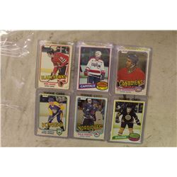 Six NHL Rookie Cards