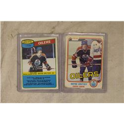 Wayne Gretzky Hockey Cards- Card #106 & Card #182