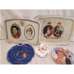 Royalty Related (Trays (2), Plates (2) Tea Cup And Saucer