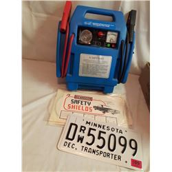 Jump Start Kit, Licence Plate, And Safety Shields (3)