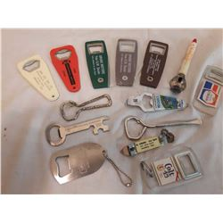 Lot Of Advertising Bottle Openers (14)