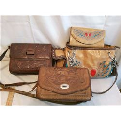 Leather Purses (3) (One New W/ Clutch Purse, 2 Used)
