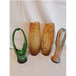 Glass Decorative Vases (4)