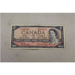 Canadian 1954 $2.00 Bill