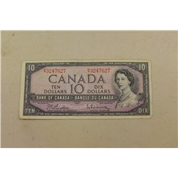 Canadian 1954 $10.00 Bill