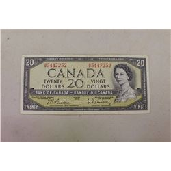 Canadian 1954 $20.00 Bill