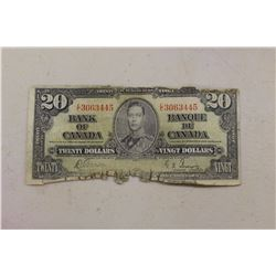 Canadian 1937 $20.00 Bill