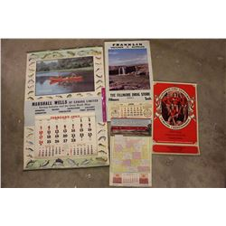 1962,1963&1965 Canadian Related Calendars