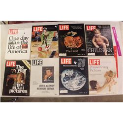 Life Magazines (8)(Various Dates 1964-1977)