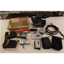 Lot of Misc Electronics(Craftsman Saw, Assorted Digital Cameras, Etc)