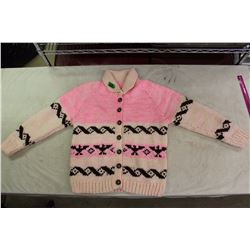 L Knitted Sweater (Acrylic Two Strand Yarn, Hand Knitted)