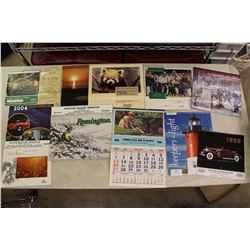 Lot of Calendars (Various Dates from 1980s-2000s)