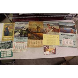 Lot of 1950s Calendars (One 1948 Calendar)
