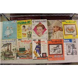 Needlework Magazines&Other Assorted Magazines(Various Dates 1950s-1970s)