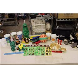 Lot of Advertising Related Misc (John Deere, Shell&Coco-Cola Cups, Star Wars,Etc)