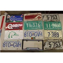 Lot of Licence Plates