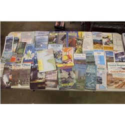 Huge Lot of Assorted Road Maps