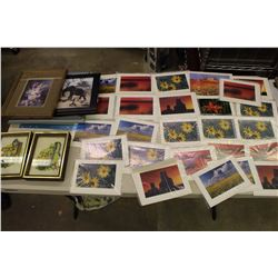 Lot of Blank Hasty Notes& Frames