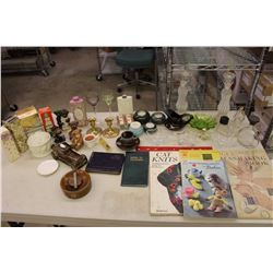 Large Lot Of Perfume Bottles, Candles, Books And Other Misc.
