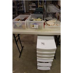 Sorter With Contents (Avon Boxes, Candle Holders, Misc.)