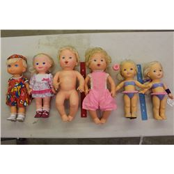 Lot of Vintage Collectible Dolls (6)