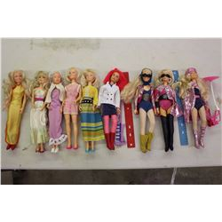 Lot Of Vintage Hasbro Jem And Barbie Dolls (7)(1985) (Some Battery Op)
