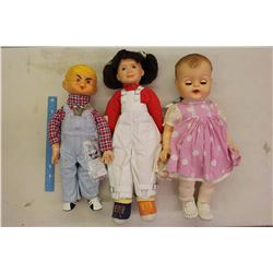 1958 Dennis The Menace Doll, 1960 Drink n Wet Baby&A 1984 Punky Brewster Doll