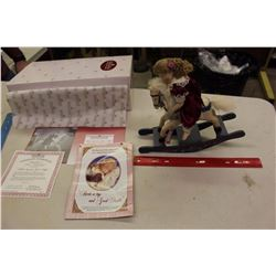Rock-a-Bye And Good Night Porcelain Doll, Ashton Drake Galleries, W/ Certificate Of Authenticity