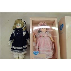 Pair Of Small Dolls (Victorian Porcelain And NIB Ginny)