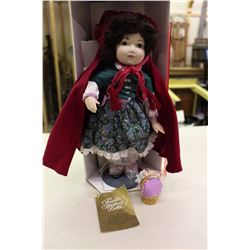 Red Riding Hood Porcelain Doll, Franklin Heirloom