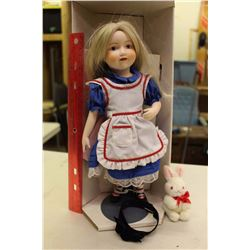 Alice In Wonderland Doll By Franklin Heirloom Dolls