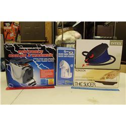 Portable Cooler&Warmer, Fabric Shaver, The Slicer&An Air Pump