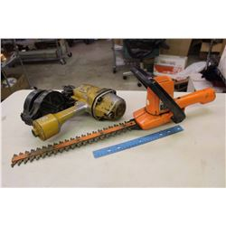 Black&Decker 405mm Deluxe Hedge Trimmer&A Bostitch N80 Coil Nailer