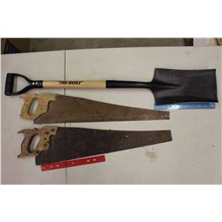 Tru Built Shovel& Two Saws