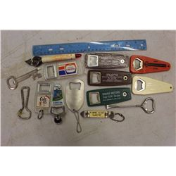 Lot of Advertising Bottle Openers (Colt 45, Molson Canadian, Smirnoff, Etc)