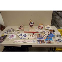Huge lot of Hockey Related (Bust, Cards, Stickers, Decals, Etc)