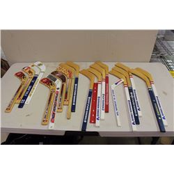 Large Lot Of Mini Hockey Sticks