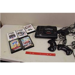 Tested and Working Sega Genesis With Controllers, Cords, And Games