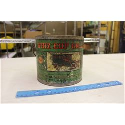 Whiz Cup Grease Pail The R.M. Hollingshead Co. (5 Lbs. Net)(Empty)