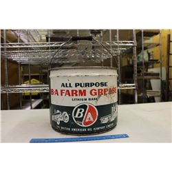 B-A Farm Grease Pail (25 Lbs)(Empty)