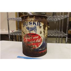 Huskie Motor Oil Pail (5 Imperial Gallons)(Empty)