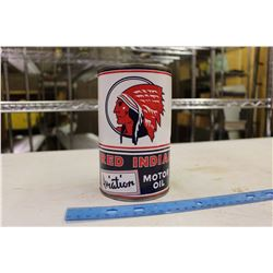 Red Indian Aviation Motor Oil Reproduction Tin (1 Imperial Quart)(Empty)