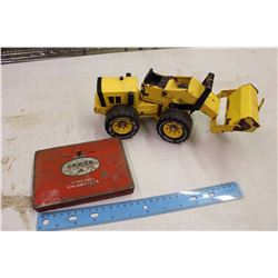 "Tonka Toy Tractor& A Craven ""A"" Virginia Cigarette Tin"