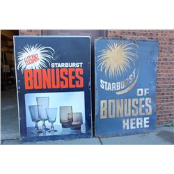 "Thick Cardboard Starburst Advertisements(2)(44""x63"")"